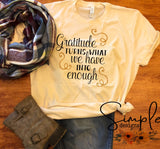 Gratitude T-shirt, Thanksgiving Bella Canvas Fall T-shirt Sale