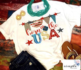 Born in the USA T-shirt, Patriotic Shirt, 4th of July,
