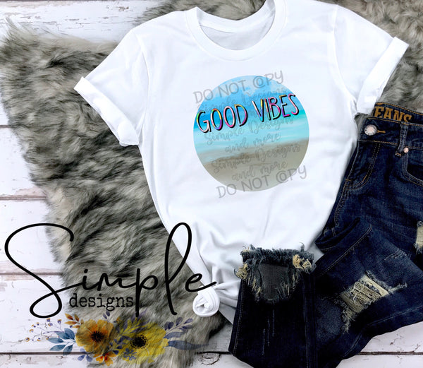 Good Vibes T-shirt, Raglan, Custom Shirts