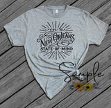 New Orleans State of Mind T-shirt, Mardi Gras 2019, NOLA, New Orleans, King Cake