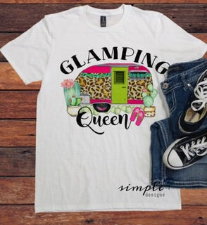 Glamping Queen T-shirt, RV Graphic Tee