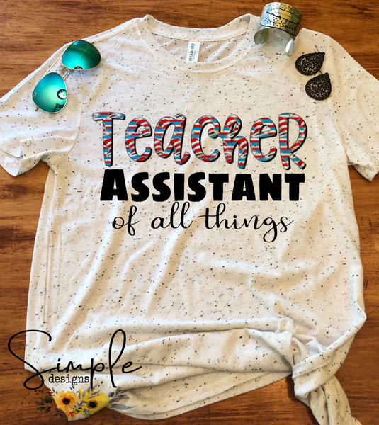 Teacher Assistant of All Things T-shirt, Dr Seuss, Kids, Youth, Raglan