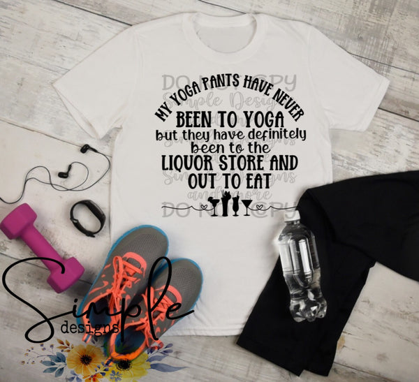 My Yoga Pants Have Never Been to Yoga T-shirt, Humor Graphic Tees, Custom Raglans