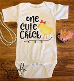 One Cute Chick Easter T-shirt, Easter Apparel, He is Risen, Resurrection