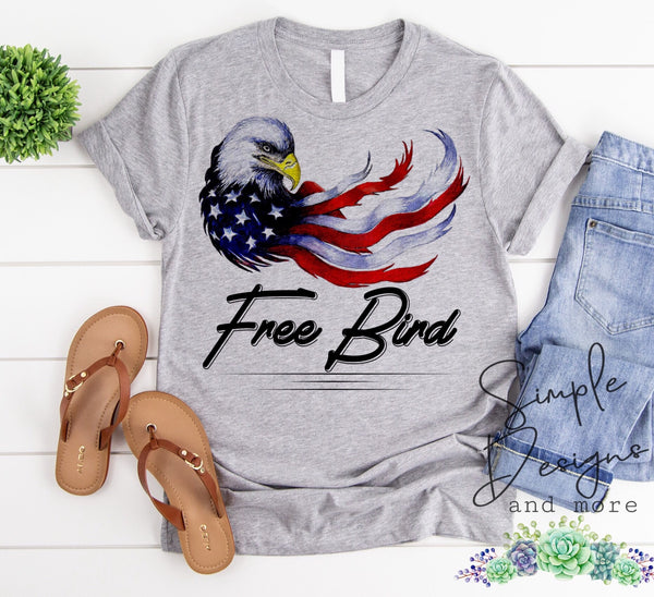 Free Bird Eagle T-shirt, Custom Tees, Tank Tops