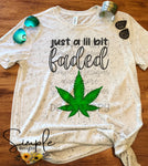Just a lil Bit Faded  T-shirt, Graphic Tees, Custom Raglans