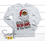 Santa There's Some Hoes in This House T-shirt, Cute Humor Graphic Tees, Custom Raglans