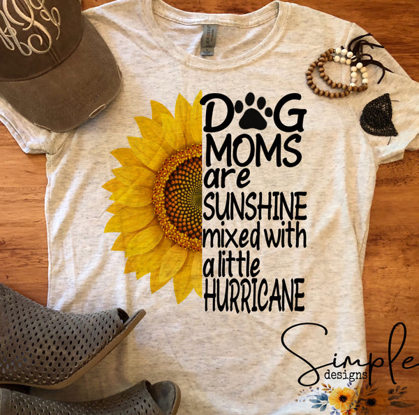 Dog Mom Sunflower T-shirt, Custom Tees, Tank Tops