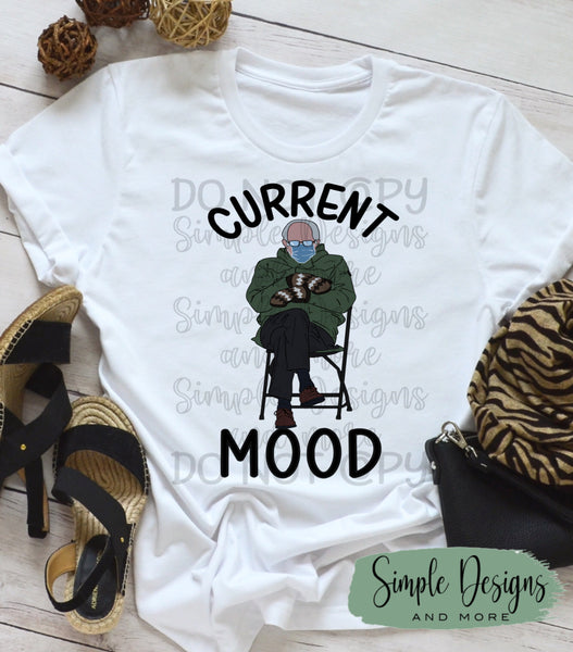 Current Mood T-shirt, Humor Graphic Tees, Custom Raglans