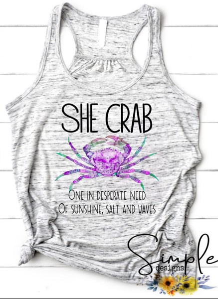 She Crab T-shirt, Custom Tees, Tank Tops