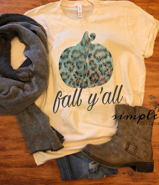 Fall Y'all Shirt, Fall Raglan, T-shirt, Pumpkin Spice