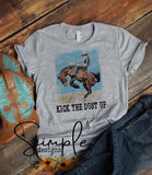 Kick the Dust Up T-shirt, Country Music Graphic Tees, Custom Raglans