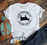Cow Tipping is Udder Chaos T-shirt, Country Western Graphic Tees, Custom Raglans