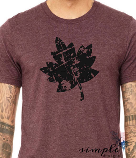 Falling Leaf Distressed Look Bella Canvas T-shirt Sale