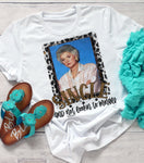 Single and Not Lookin to Mingle Dorothy T-shirt, Golden Girls, Humor Graphic Tees, Custom Raglans