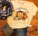 The Coziest Time of the Year Shirt, Fall Raglan, T-shirt, Pumpkin Spice