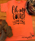 Oh My Gourd I Love Fall Bella Canvas T-shirt Sale