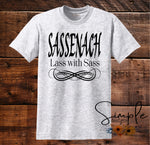 SASSENACH Lass With Sass T-shirt, Outlander, TV Shows, Entertainment, Custom Tees