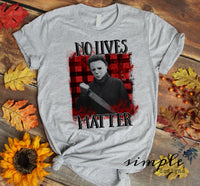 No Lives Matter T-shirt, Halloween Tees, Fall Raglans