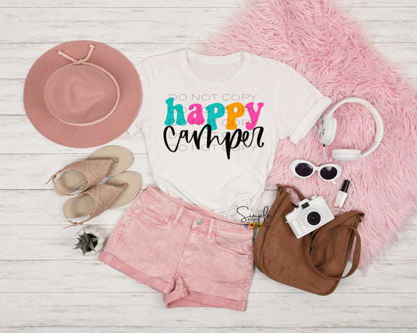 Happy Camper T-shirt, Custom Tees, Tank Tops