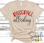 Baseball All Day T-shirt, Sports, Raglans