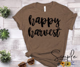 Happy Harvest T-shirt Sale Bella Canvas Tees