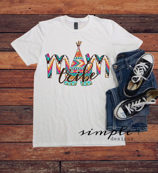 Mom Tribe T-shirt, Tribe Shirt, Serape Mom Tribe Shirt, Mom Tee