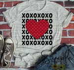 XOXO Polka Dot Heart T-shirt, Valentines Day, Love Never Fails, Love One Another