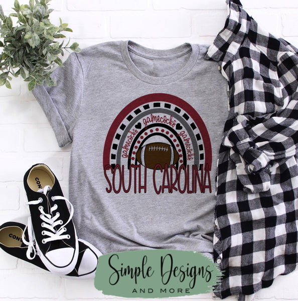 South Carolina Gamecocks T-shirt, Football Tees, Custom Tees, Personalized Teams