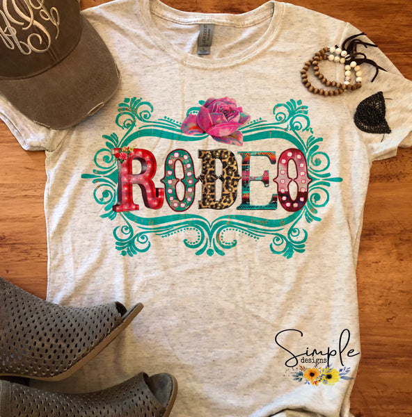 Rodeo T-shirt, Graphic Tees, Custom Raglans