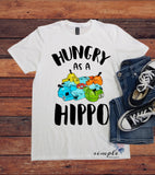 Hungry as a Hippo T-shirt, Retro Shirt, Vintage Tee