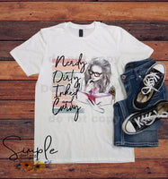Nerdy, Dirty, Inked, and Curvy T-shirt, Custom Tees, Tank Tops