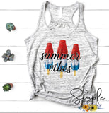 Summer Vibes Custom T-shirt, Custom Tees, Tank Tops