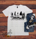 Outlander Black Silhouette T-shirt, Outlander, TV Shows, Entertainment, Custom Tees