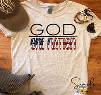 One Nation Under God T-shirt, Inspirational Graphic Tees, Custom Raglans
