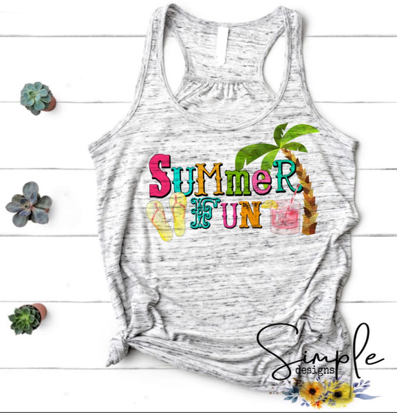 Summer Fun T-shirt, Summer Tees, Custom Shirts