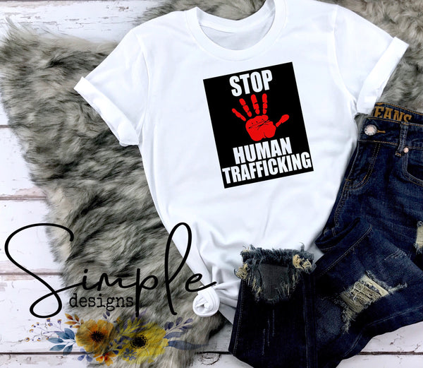 Stop Human Trafficking T-shirt, Save Our Children, End Sex Trafficking, Awareness