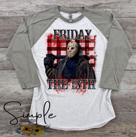 Friday the 13th T-shirt, Halloween Tees, Fall Raglans