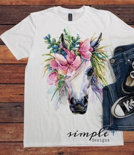 Watercolor Horse T-shirt, Farm Animals T-shirt, Barnyard Buddies