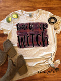 Back Up Witch T-shirt, Long Sleeve Tees, Raglans, Fall