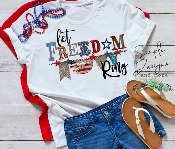 Let Freedom Ring Tee, Support Our Troops T-shirt, Deployment, Independence, 4th Of July, Military, Veteran, Navy, Marines, Army, Air Force, Coast Guard