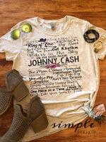 Johnny Cash Lyrics T-shirt, Raglan, Music Lyrics