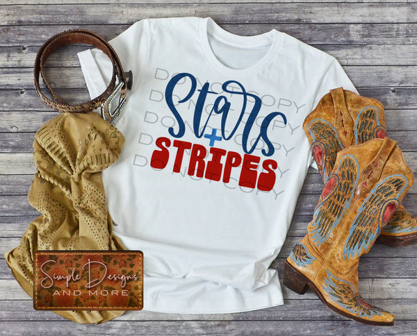 Stars and Stripes T-shirt, Custom Tees, Tank Tops