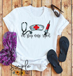 Eat Sleep Nurse Repeat T-shirt, Work Flow Tees, Custom Job Shirts