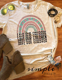 Save Our Children Rainbow T-shirt, Raise Awareness Tees, Raglans