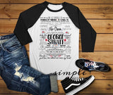 George Strait Lyrics T-shirt, Raglan, Country Music Lyrics