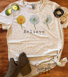 Believe T-shirt, Custom Tees, Tank Tops