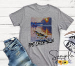 First Catch Feelin T-shirt, Raglan, Custom Shirts