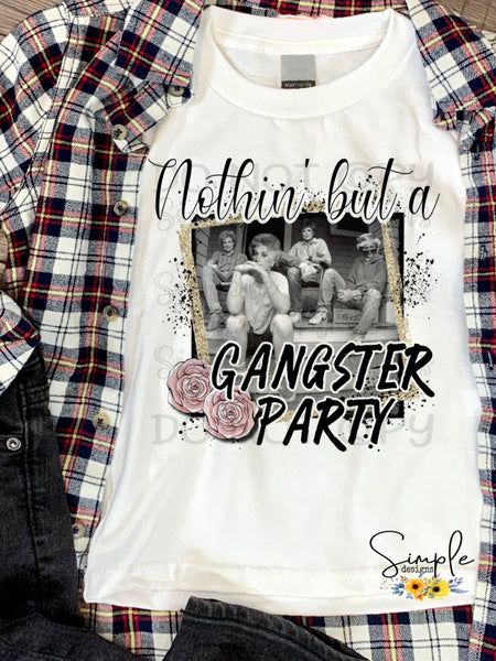 Nothin But a Gangster Party T-shirt, Golden Girls, Humor Graphic Tees, Custom Raglans