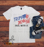 Trump 2020 Deal With It T-shirt, Shirts, Kids, Youth, Raglan